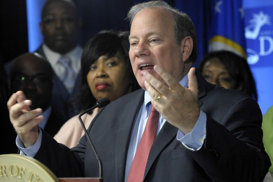 Le maire de Detroit Mike Duggan... (Photo Todd McInturf, AP)