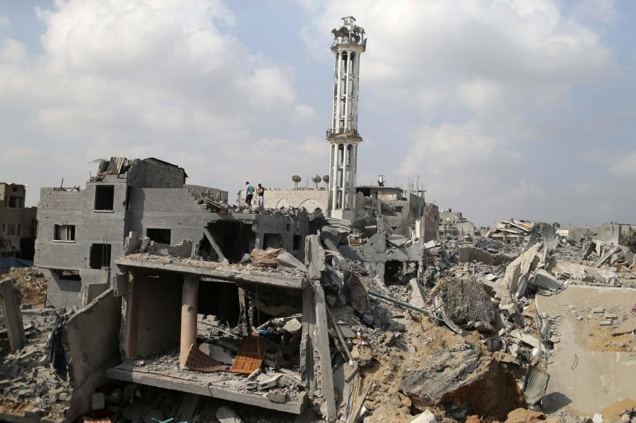 Le quartier deChajaya a été grandement bombardé pendant... (PHOTO MOHAMMED SALEM, REUTERS)