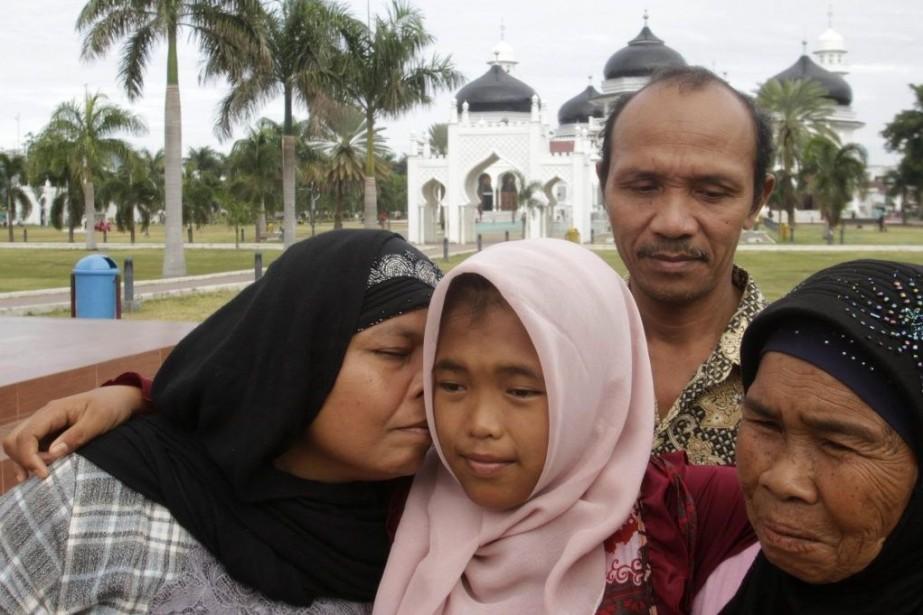 Raudhatul Jannah a été emportée par les vagues... (PHOTO DARREN WHITESIDE, REUTERS)