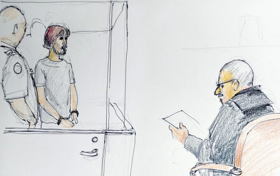 Une illustration de Justin Bourque (centre).... (PHOTO CAROL TAYLOR, LA PRESSE CANADIENNE)