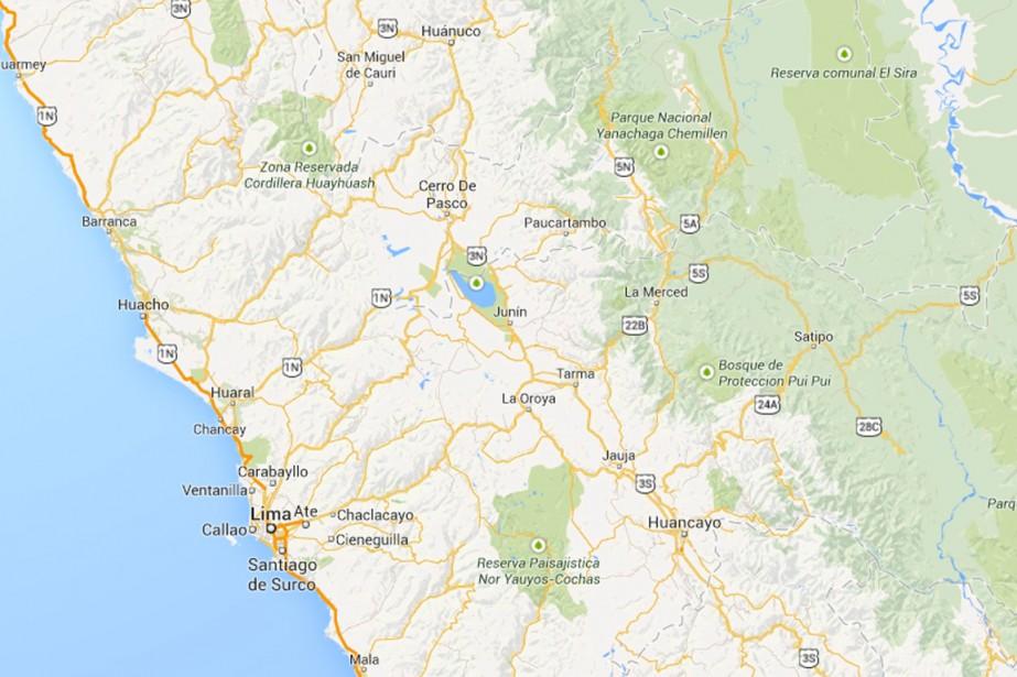 Dix-huit personnes ont péri et 40 ont été... (IMAGE TIRÉE DE MAPS.GOOGLE.CA)