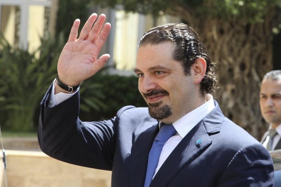 L'ancien premier ministre Saad Haririrevient pour afficher son... (PHOTO REUTERS)
