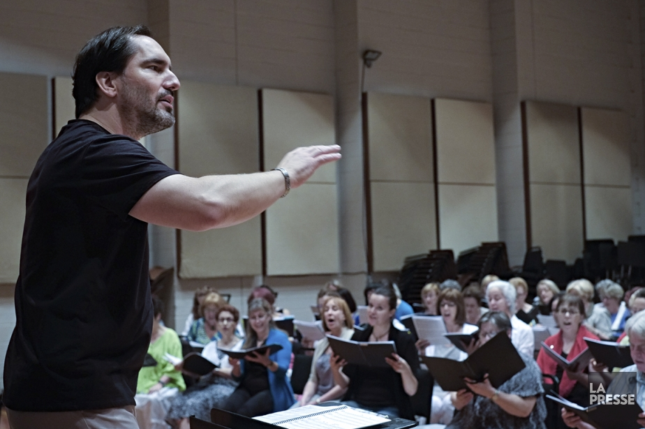 Le chef d'orchestre Michel Brousseau, de la Société... (PHOTO ALAIN DéCARIE, LA PRESSE)