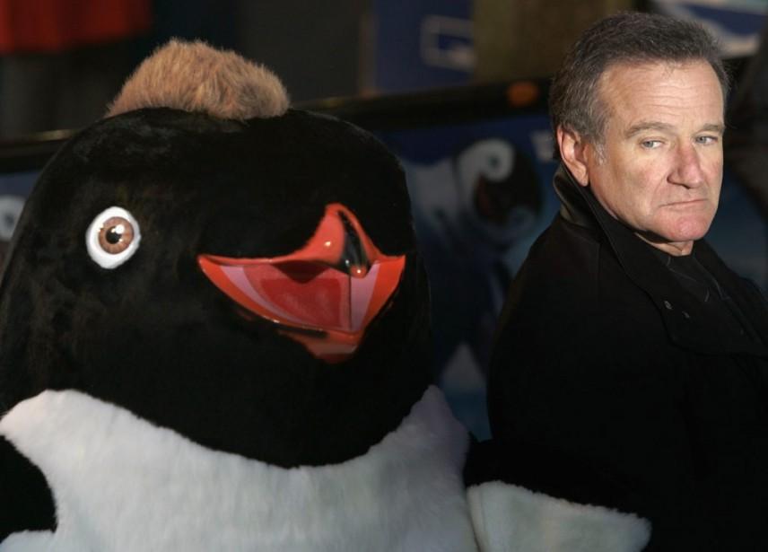 Robin Williams lors de la première européenne de la comédie d'animation<em>Happy Feet</em>, à Londres, en 2006. (Reuters)