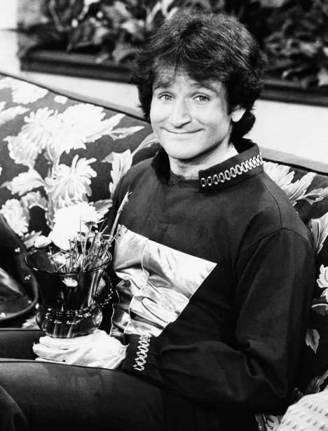 Sur le plateau de <em>Mork and Mindy</em>,série télévisée diffusée par ABC entre 1978 et 1982. (AP)
