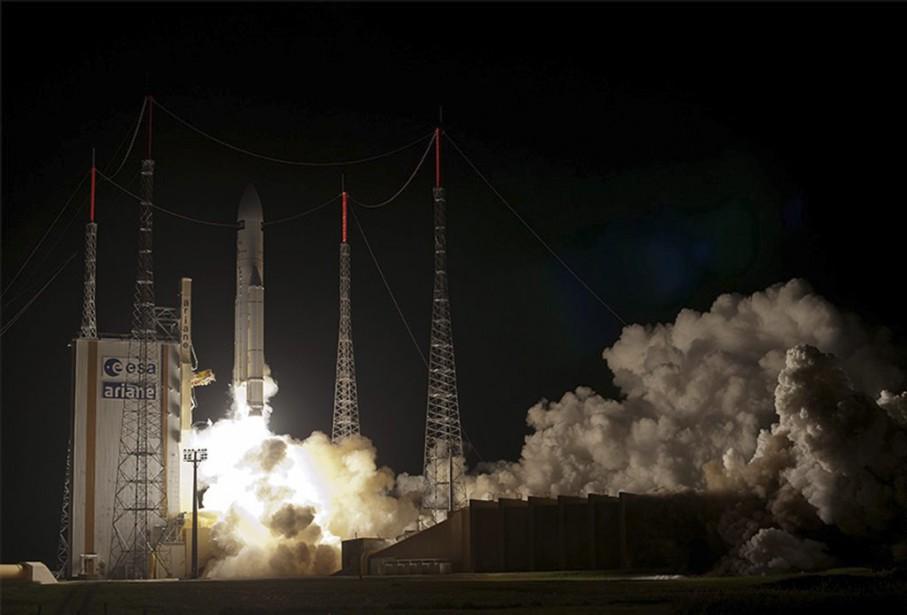 La fusée qui transporte ATV-5... (PHOTO AGENCE FRANCE-PRESSE)