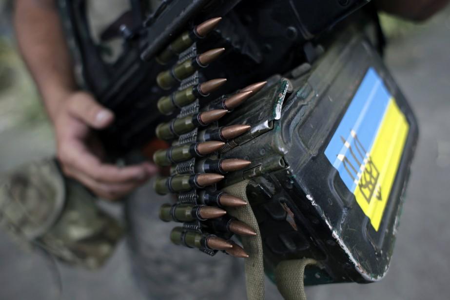 Les forces ukrainiennes mènent une offensive et resserrent... (Photo ANATOLII STEPANOV, AFP)