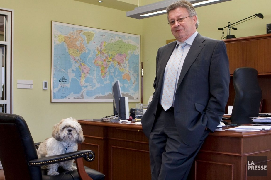 André Laramée, président-directeur général deGroupeCVTech, dans ses bureaux... (Photo Robert Skinner, Archives La Presse)