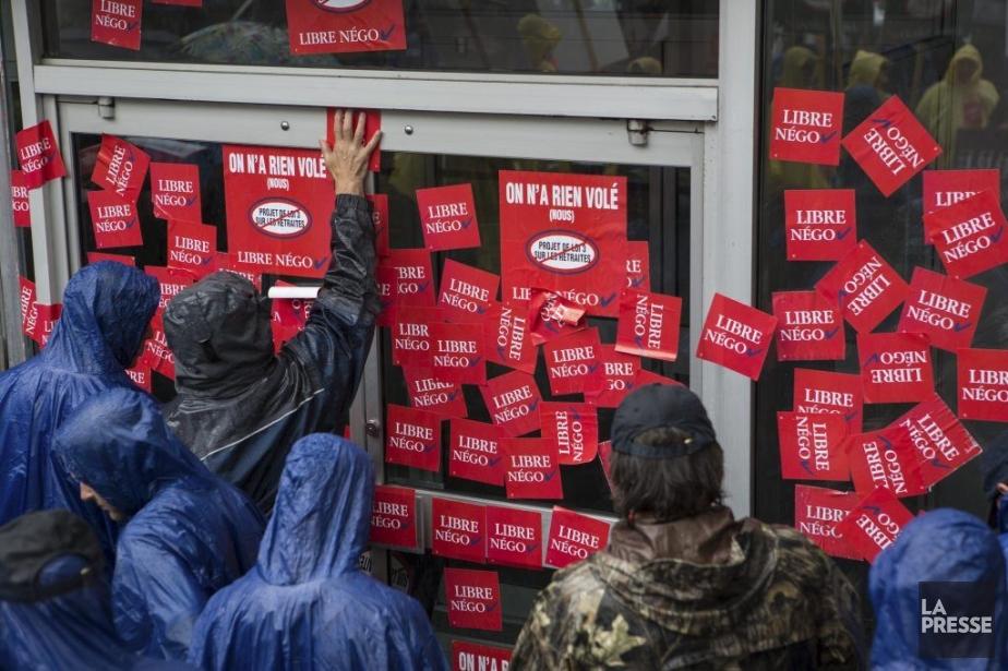 Les syndiqués opposés au projet de loi 3... (PHOTO MATHIEU WADDELL, LA PRESSE)