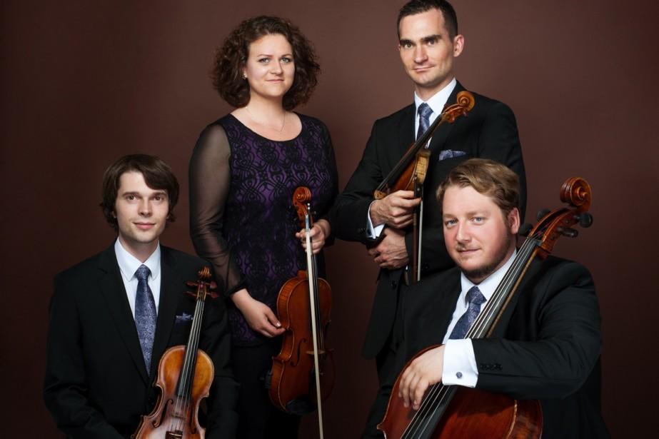 Le jeune Quatuor Mucha, de Slovaquie.... (Photo: fournie par l'Académie)