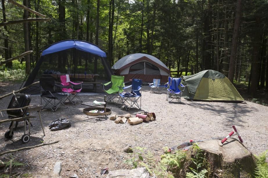 Le camping de la Yamaska offre des terrains ombragés et isolés des voisins, assurant ainsi une tranquilité exemplaire. (Photo François Roy, La Presse)