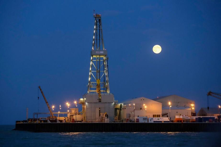 La plate-forme pétrolière de Kashagan en mer Caspienne.... (PHOTO ARCHIVES REUTERS)