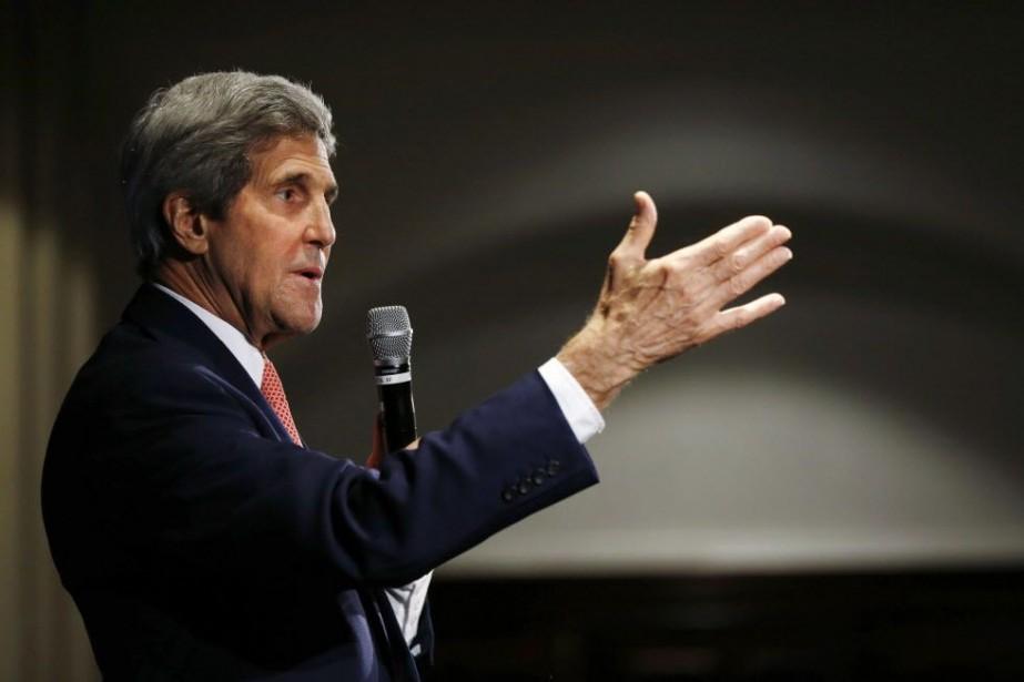 Le secrétaire d'État américain, John Kerry.... (PHOTO JASON REED, AFP)
