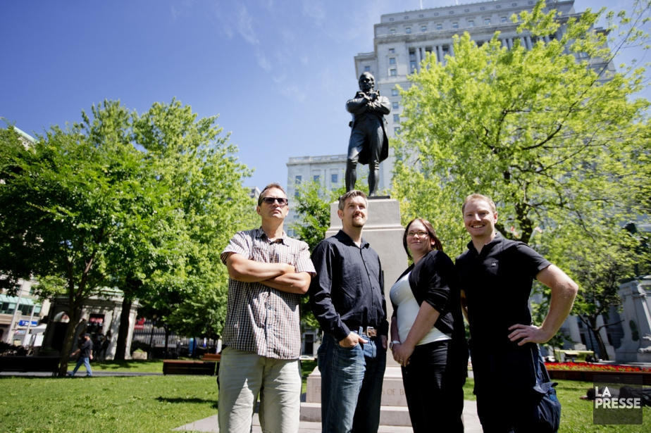 (De gauche à droite) James Quigley, Derek Robertson,... (PHOTO MARCO CAMPANOZZI, LA PRESSE)