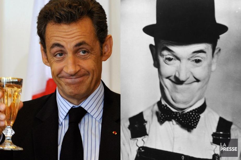 Nicolas Sarkozy et Stan Laurel... (PHOTOMONTAGE LA PRESSE)