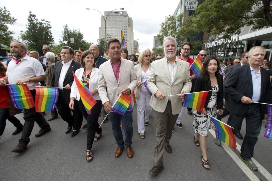 Des politiciens de (presque) tous les horizons politiques se sont réunis pour répéter que malgré les avancées réalisées ces dernières années, il était nécessaire de poursuivre les gestes de mobilisation, particulièrement en ce qui concerne la question des droits des transsexuels. (Photo Robert Skinner, La Presse)
