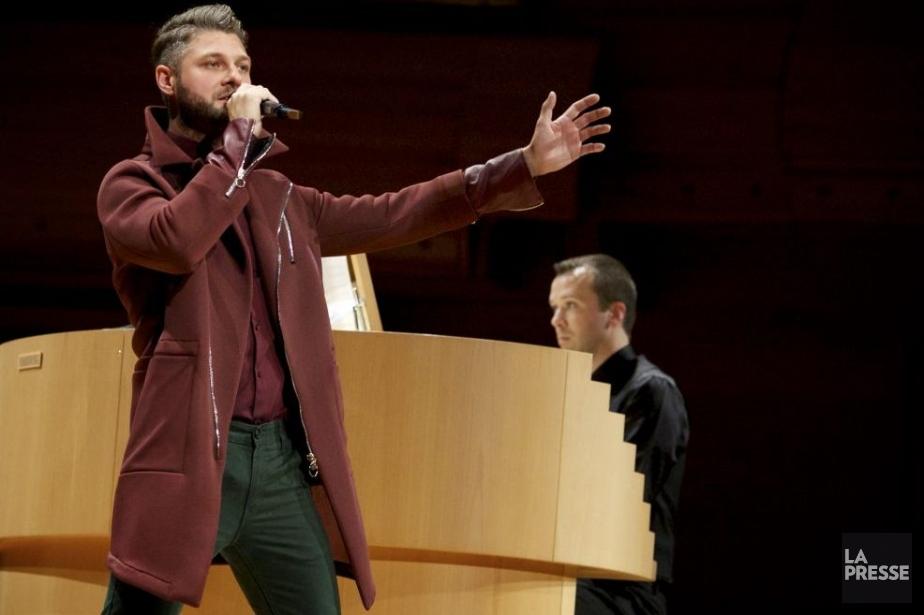 Le concert du chanteur Pierre Lapointe, accompagné par... (Photo: Sarah Mongeau-Birkett, La Presse)