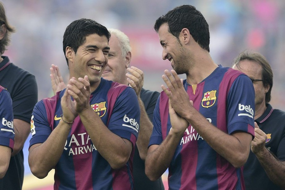 L'attaquant uruguayen Luis Suarez, interdit de... (PHOTO JOSEP LAGO, AFP)