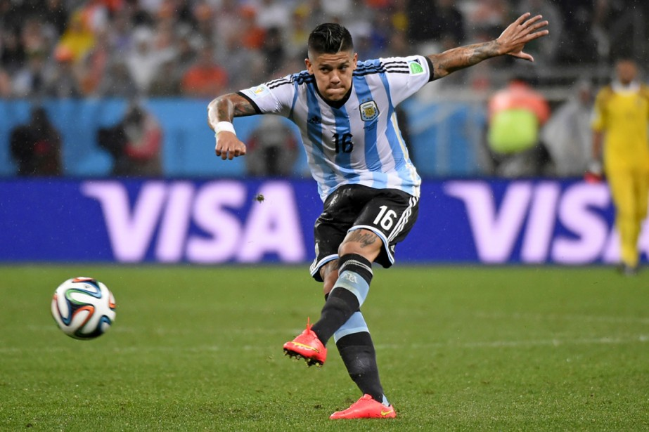 Marcos Rojo... (Photo Fabrice Coffrini, AFP)