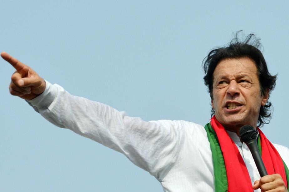L'opposant Imran Khan s'adresse à ses partisans lors... (PHOTO AAMIR QURESHI, AFP)