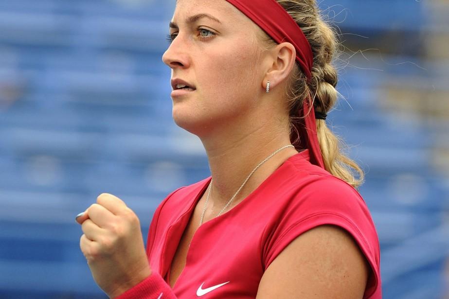 La championne de Wimbledon Petra Kvitova... (Photo Fred Beckham, AP)