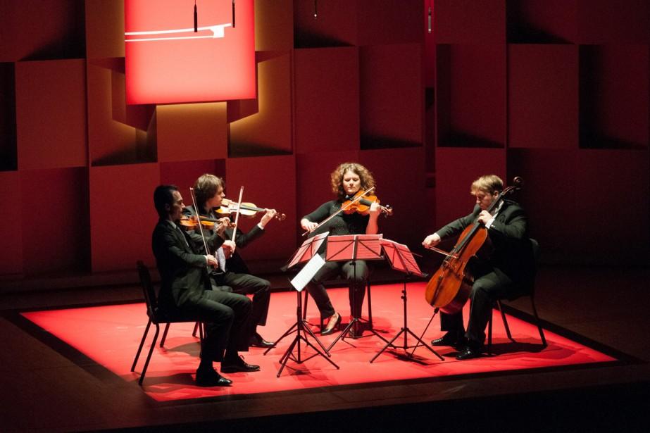 Le Quatuor Mucha, de Slovaquie.... (Photo: fournie par l'Académie)