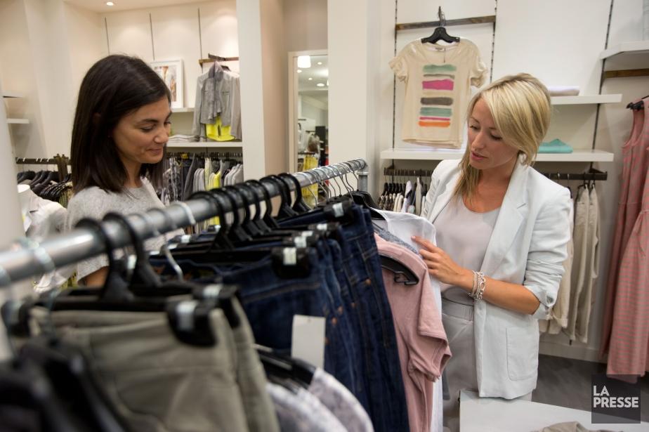 La propriétaire la boutique Strauss Nathalie Lemieux et... (Photo François Roy, La Presse)