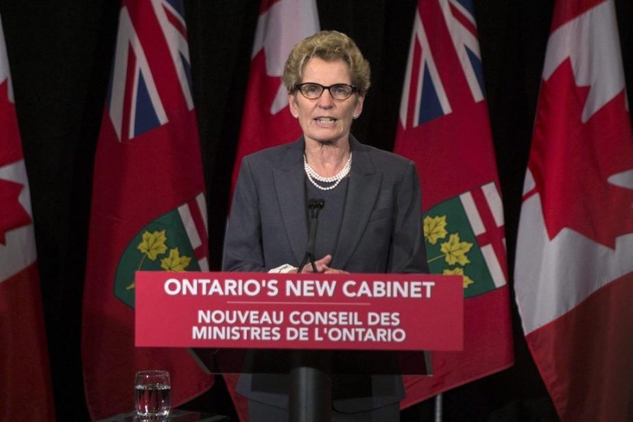 La première ministre de l'Ontario Kathleen Wynne... (Archives La Presse Canadienne)