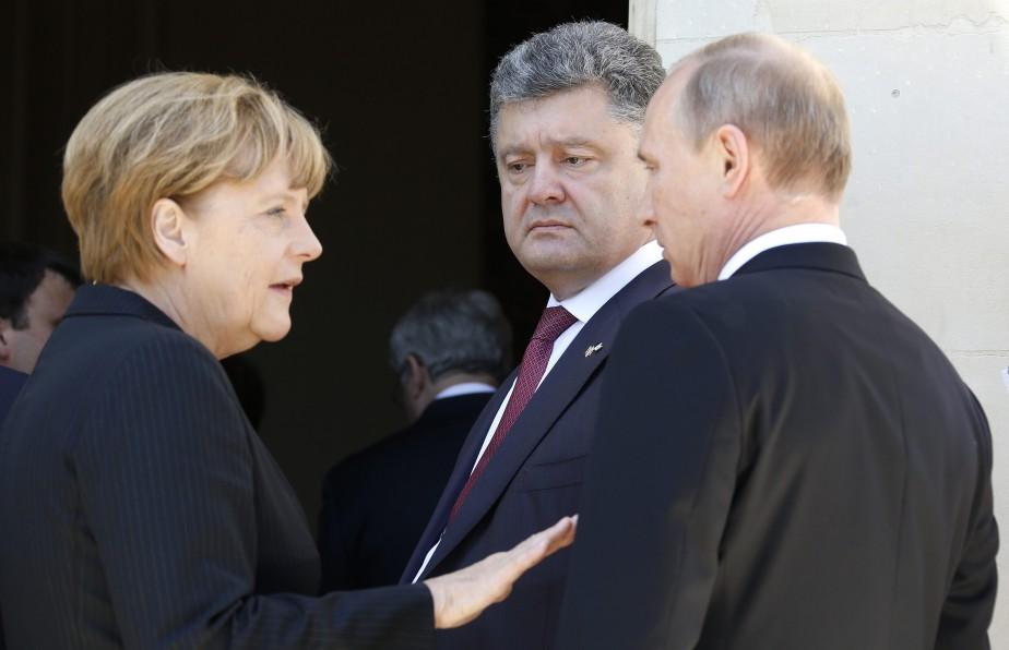 La chancelière allemande Angela Merkel reste l'interlocutrice de... (Photo Regis Duvignau, archives Reuters)