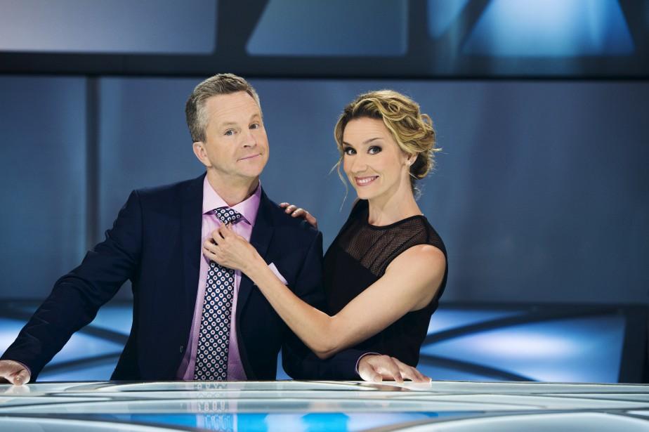 André Robitaille et Édith Cochrane animent Les enfants... (Photo: fournie par ICI Radio-Canada Télé)