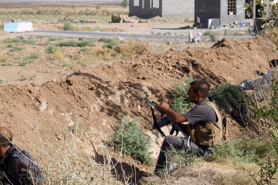 Un combattantturcoman chiite àAmerli, le 4 août.... (PHOTO ALI AL-BAYATI, ARCHIVES AFP)
