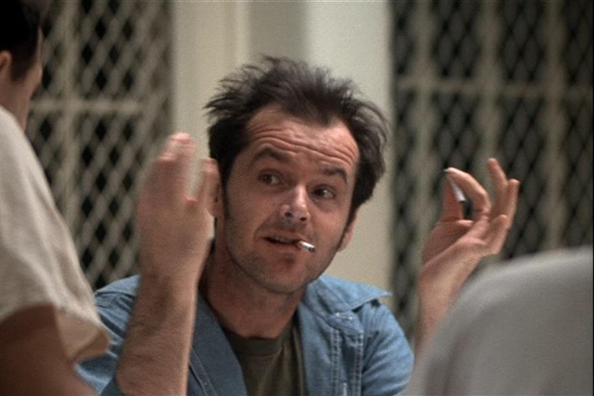 Jack Nicholson dans One flew over the cuckoo's nest... (Photo fournie par Fantasy Films)