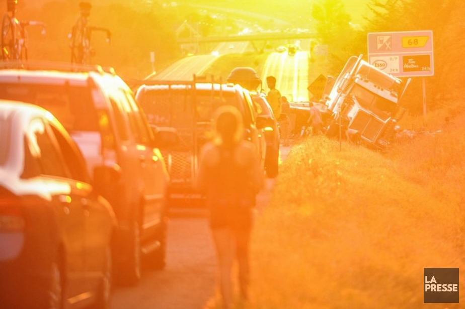 La collision multiple s'est produite vers 19h30, au... (Photo Roxanne Bélisle, collaboration spéciale)