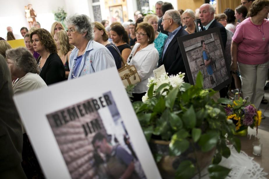 Peu avant la messe, John et Diane Foley... (Photo DOMINICK REUTER, AFP)