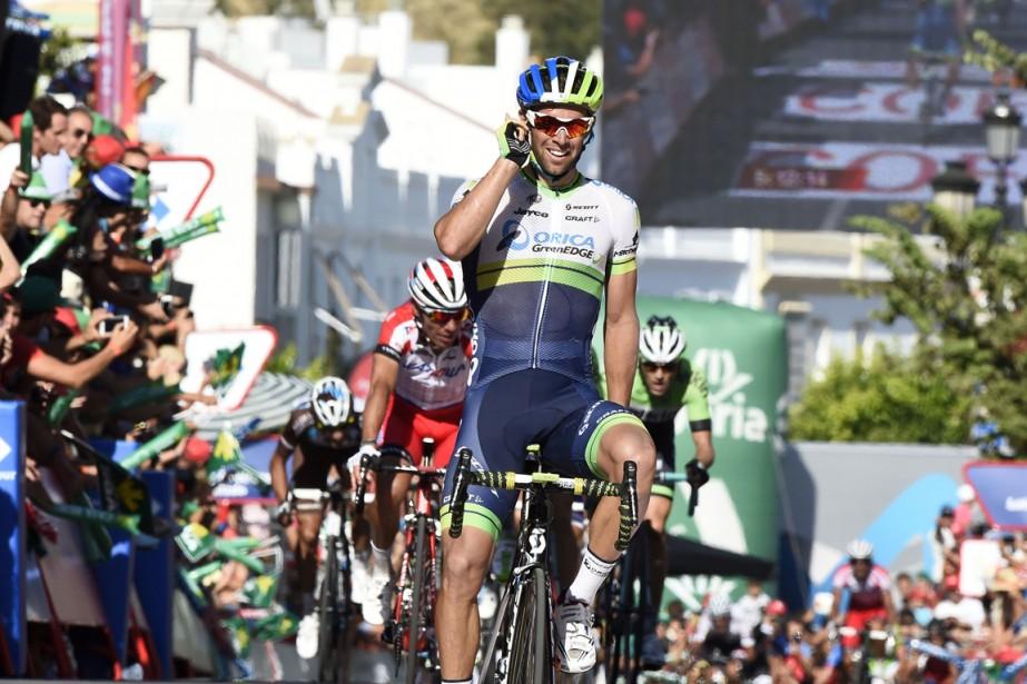 L'Australien Michael Matthews a remporté la troisième étape... (Photo Jose Jordan, AFP)