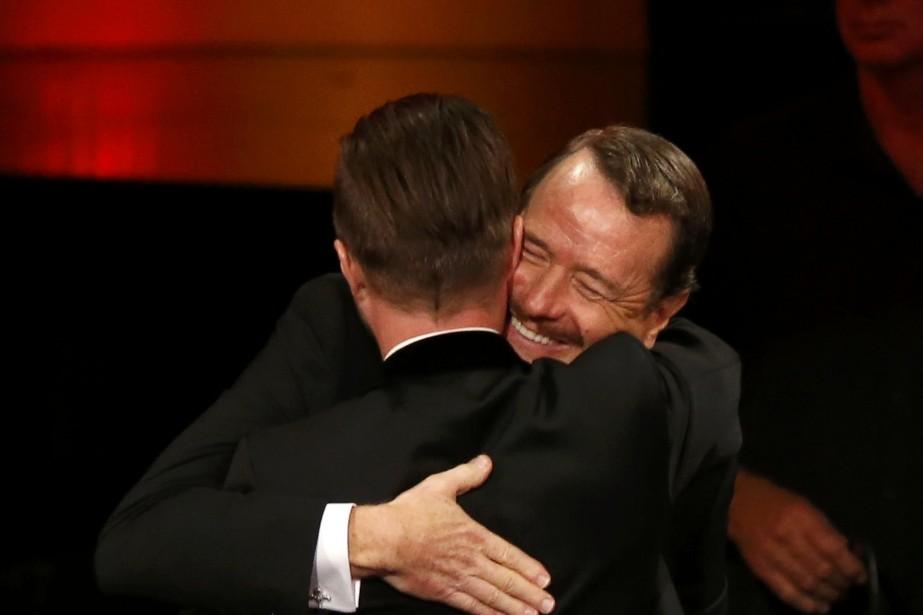 Aaron Paul et Bryan Cranston de Breaking Bad... (Photo: MARIO ANZUONI, REUTERS)
