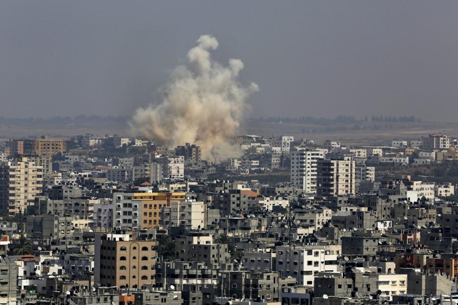Deux Palestiniens ont été tués lors d'un raid aérien... (Photo Adel Hana, AP)