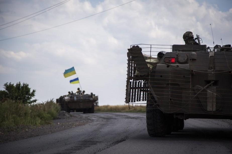 L'armée ukrainienne (photo) avait affirmé lundi avoir stoppé... (PHOTO OLEKSANDR RATUSHNIAK, AGENCE FRANCE-PRESSE)