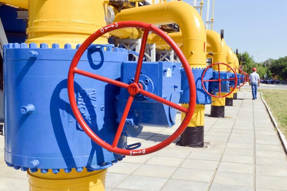 Près de la moitié des exportations de gaz... (PHOTO SERGEY BOBOK, ARCHIVES AFP)