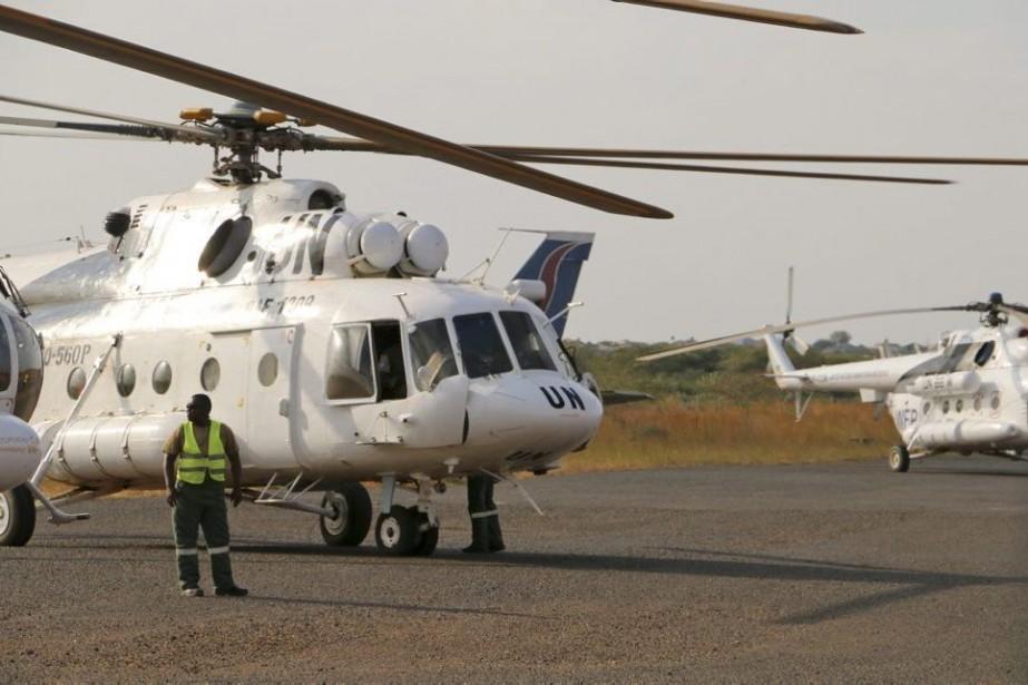 Un hélicoptère de l'ONU semblable à celui qui... (Photo AP)