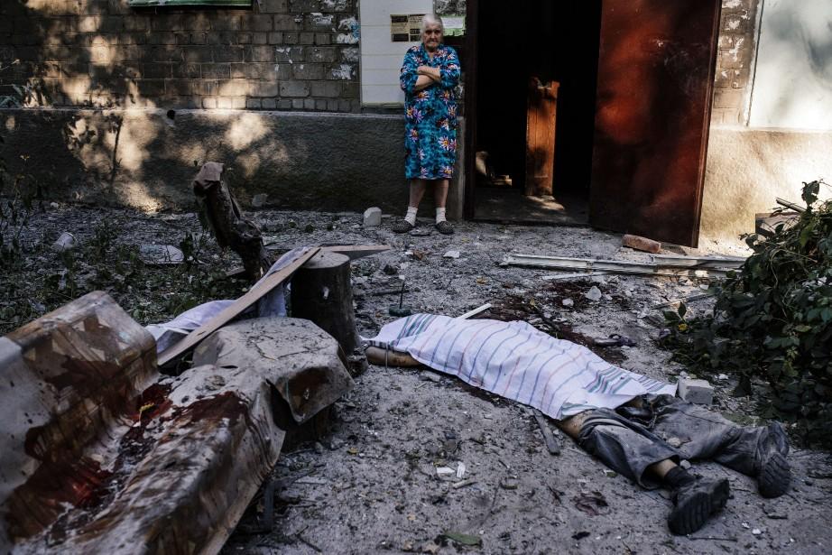 Les combats entre armée ukrainienne et rebelles... (Photo DIMITAR DILKOFF, AFP)