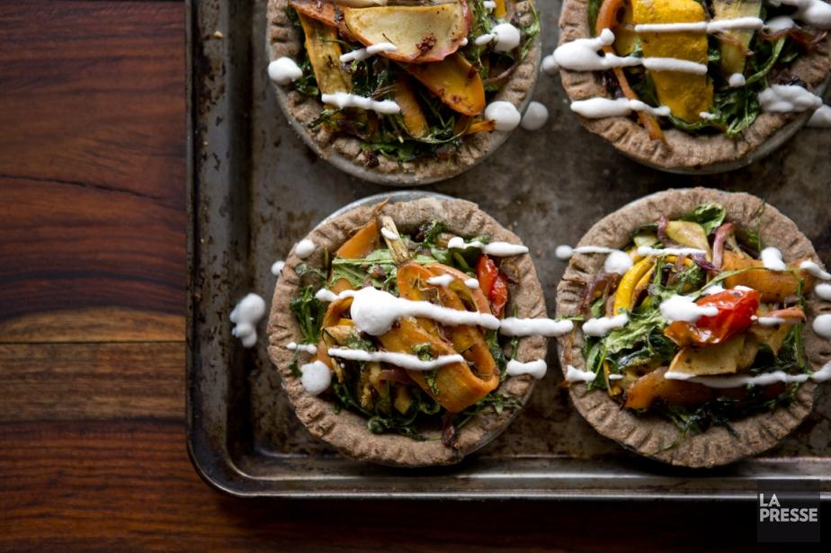 Tarte aux légumes grillés... (PHOTO MARCO CAMPANOZZI, LA PRESSE)