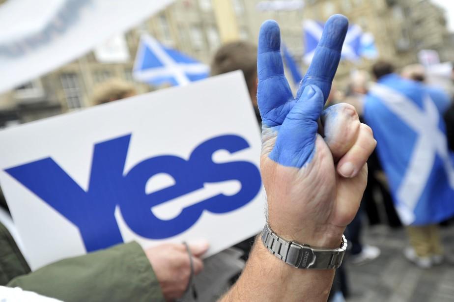 Le nombre de partisans de l'indépendance de... (Photo Andy Buchanan, AFP)