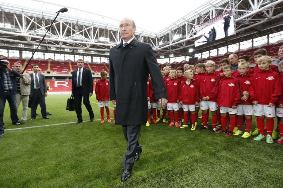 Le président russe Vladimir Poutine était présent mercredi... (Photo Sergei Karpukhin, AFP)
