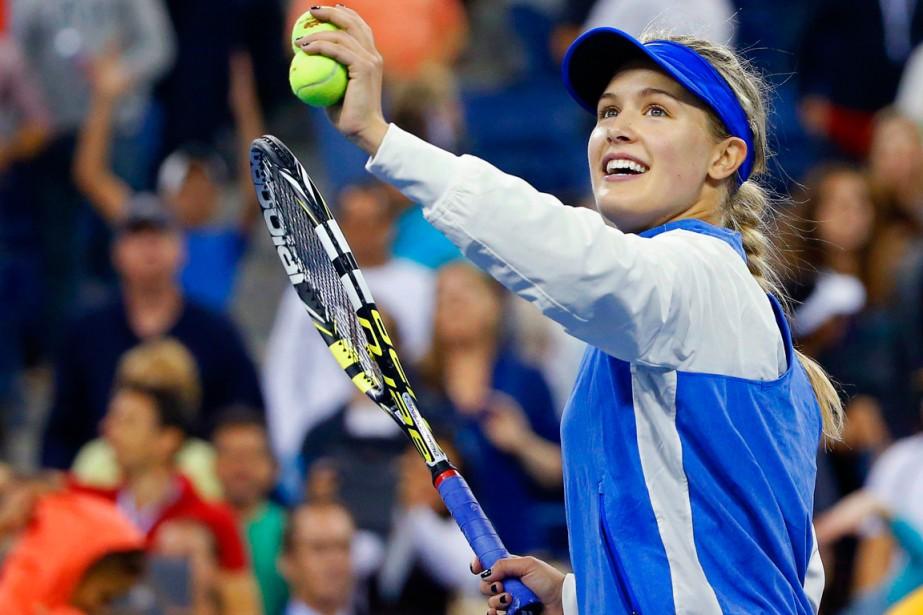 Eugenie Bouchard a frappé des balles dans la... (Photo Shannon Stapleton, Reuters)