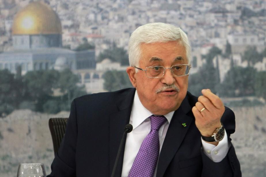 Le président palestinien Mahmoud Abbas a déploré l'insistance... (Photo Nasser Shiyoukhi, archives Associated Press)