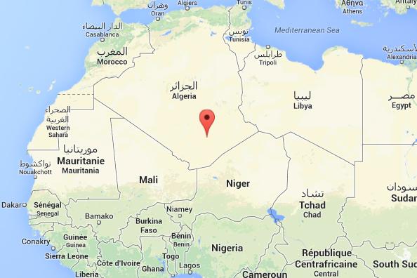 L'appareil s'est écrasé dans le Sahara algérien, près... (Photo Google Maps)