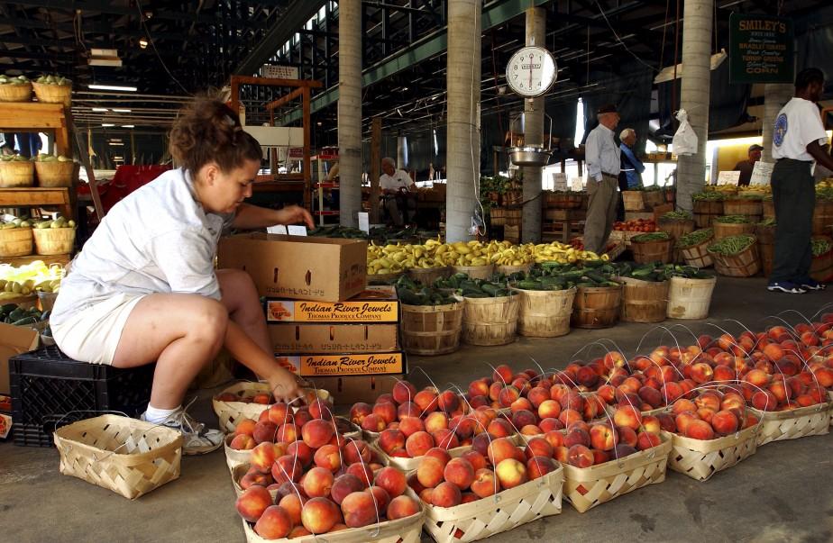 Une petite balade auNashvilleFarmers' Market permet de voir où s'approvisionnent les restaurants d'EastNashville. (PHOTO ÉMILIE CÔTÉ, LA PRESSE)