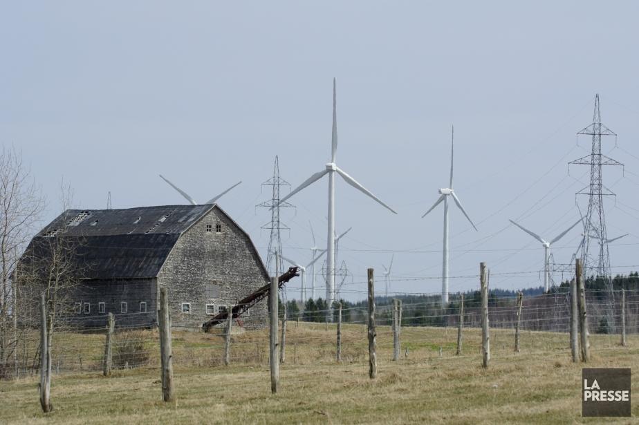 L'industrie éolienne a généré plus de 5000 emplois,... (Photo Bernard Brault, archives La Presse)