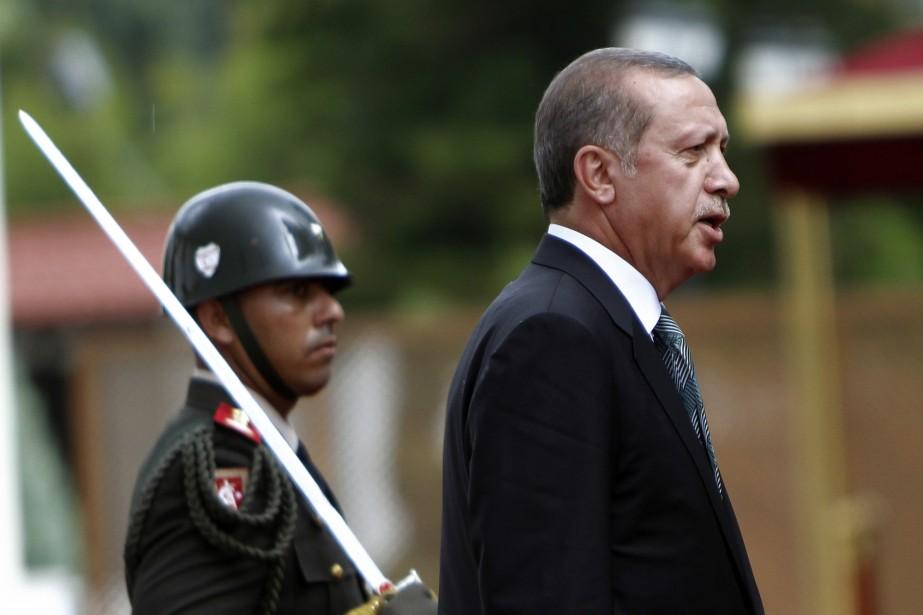 Recep Tayyip Erdogan a effectué ses déclarations lundi... (Photo Petros Karadjias, AP)